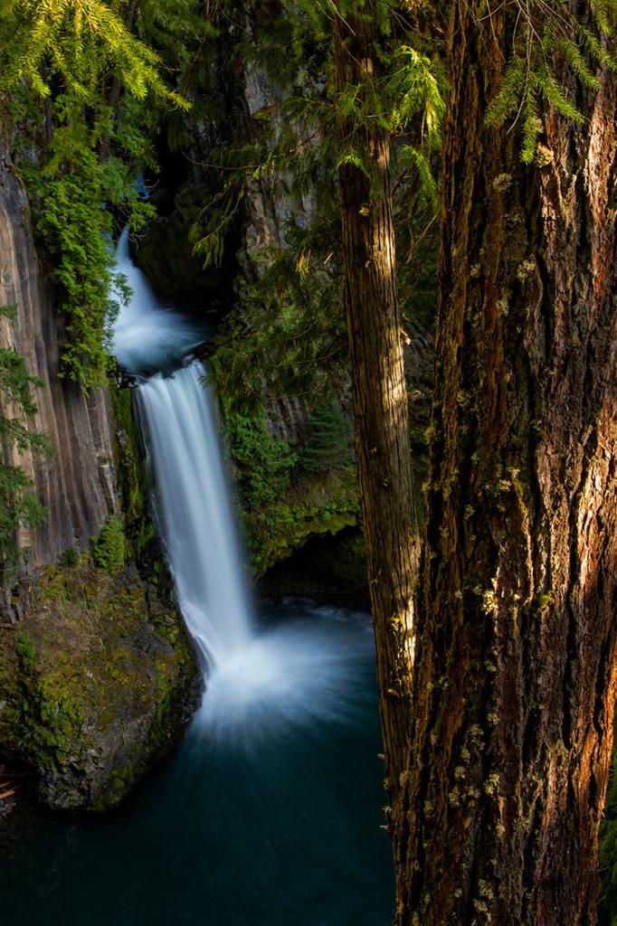 Tokatee Falls in Southern Oregon